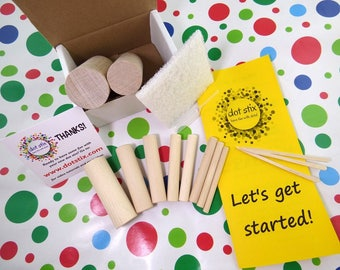 DOT STIX! The fun and easy way to paint polka dots, circles and flowers on just about any flat surface!