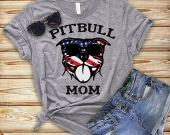 Pit Bull T-shirt, American Pit Bull T-shirt for Dog Mom