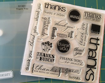 Thank You Acrylic Stamp Set