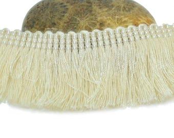 50cm ivory 25mm cotton fringe trim