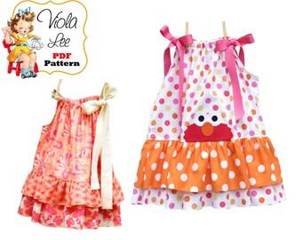 Easy Beginner Girls Sewing Pattern, Pillowcase Dress. Girls Dress. Boutique Dress Pattern. pdf Sewing Pattern, Clothing Pattern. Penelope