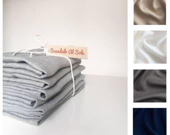 Six Linen Napkins 46 x 46 cm, assorted colours, serviettes, grey flax napkin, minimalistic tableware, boho wedding table, Rustic napkins set