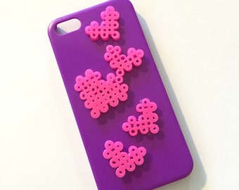 iPhone 5 Phone Case - Heart Melty Beads
