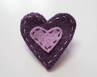 """Nasturtium"" Collection heart felt brooch"