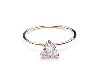 TRILLION RING / trillion cut ring / birthstone ring / trillion diamond ring / trillion / trillion cut