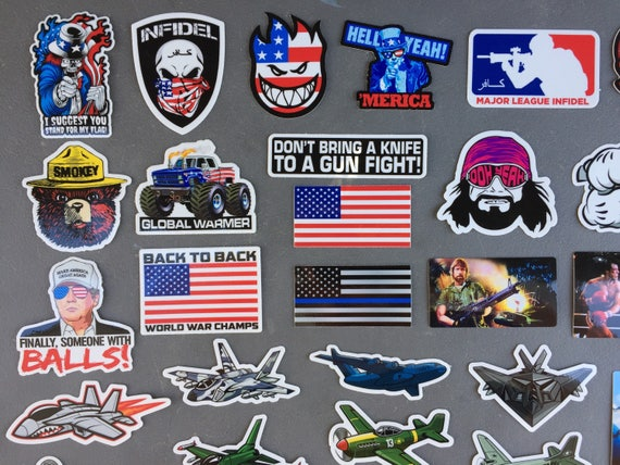 New USA Hard Hat Stickers (40) HardHat Sticker and Decals, Helmet, Tool &  Lunch Box, Welder, Hydro Flask, Monroe, hood, Free Shipping