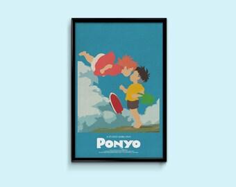 Ponyo 11 x 17 Inch Minimalist Movie Poster