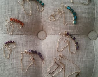 Horse ornaments with beaded mane