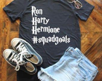 Harry, Hermione, Ron #squadgoals Shirt / Hermione Granger / Ron Weasley
