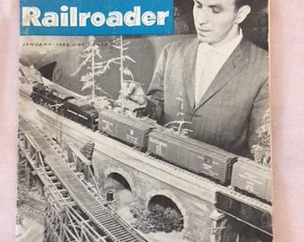 Vintage January 1962 Edition of Model Railroader Magazine