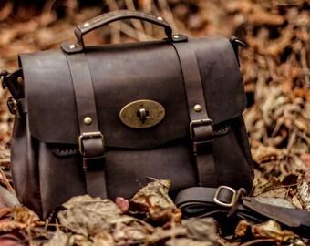 Women's brown bag, leather handbag, leather crossbody bag, leather shoulder bag, womens handbag, leather satchel, women's shoulder bag