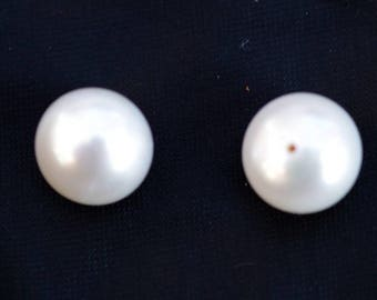 pair of cultured pearl genuine AAA grade high quality 11-12mm