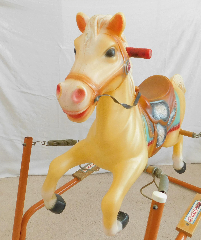Vintage Spring Action Rocking Horse Flexible Flyer Plastic