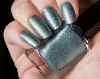 Lighthouse - Shimmering blue lacquer with gold highlights nail polish - Rapture Collection - .45oz/13.2mL
