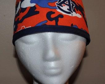 Auburn University Camouflage  - Men's Scrub Cap Hat - One Size Fits Most