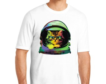 Space Kitten Color Changing T-Shirt, Space Kitten T-Shirt, Space Cat, Space Kitten, Cat T-Shirt, Cat Shirt, Cat, Cat Gift, Color Changing