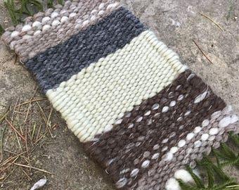 Woven treasure mat altar mat wool weaving lichen sage bark