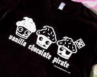 Le Pirate Cupcake unisexe T Shirt