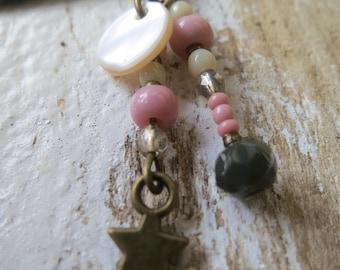 Earrings pink charm