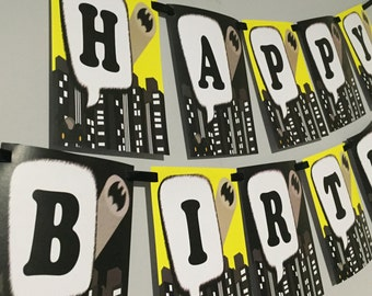 Batman Happy Birthday Banner by Love this Moment!