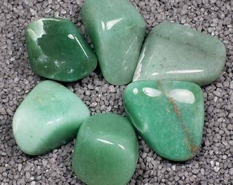 Natural Prasiolite Green Quartz Tumble Polished Crystal Stone, 1 pc, Sizes 1.2 to 1.7 Inch, TS1166