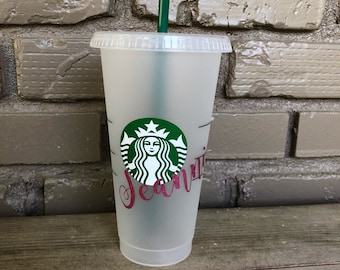 Personalized Reusable Cold Drink Starbucks Cup