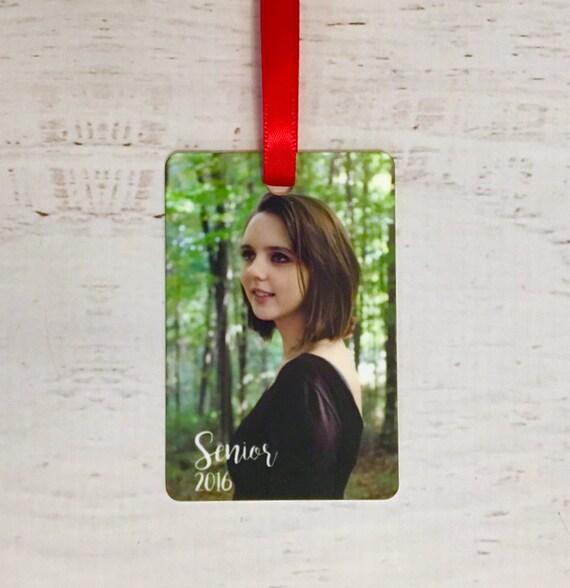 School Portrait Custom Personalized Christmas Ornament with Photo