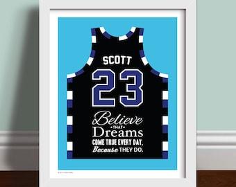 Believe That Dreams Come True -  Raven's Basketball Jersey