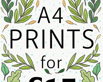 Any 2 A4 Prints Offer | Illustration by Samantha Dolan | Wall Art | Home Decor |