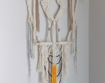 """Wall Hanging """"Gateway no.2"""" by HIMO ART, One of a kind Handcrafted Macrame"""