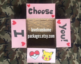 I Choose You Pokemon Care Package Flaps