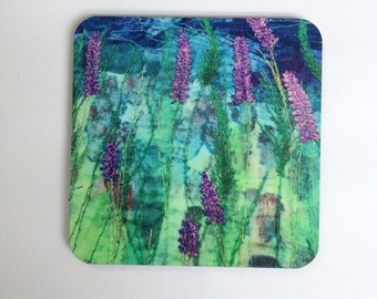 Lavender coasters - boho decor - spring party favor - eco rich - decor for home - house warming gift - office decor - coasters for drinks