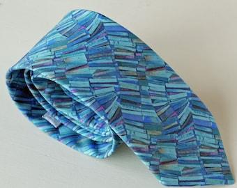 Liberty print tie - book print tie - blue tie - Liberty tie - Liberty print necktie - Dr. Tulloch