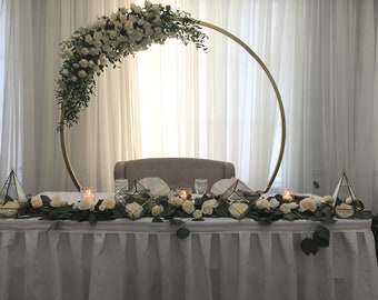 90 White Metal Arch Frame Wedding Quinceanera Party