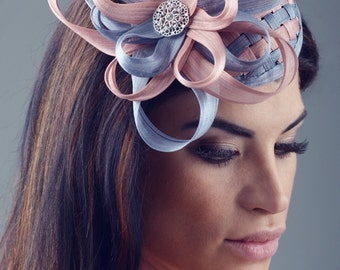 Fascinator with silk abaca