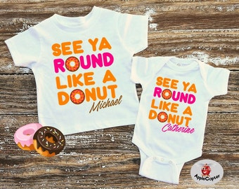 Donut Birthday Party Shirt, Kids Donut Shirt, Donut Themed Party, See Ya Round Like A Donut, Donut Lover Gift, Dunkin Donuts, AppleCopter