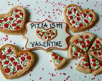 Pizza Is My Valentine Cookie Gift Box