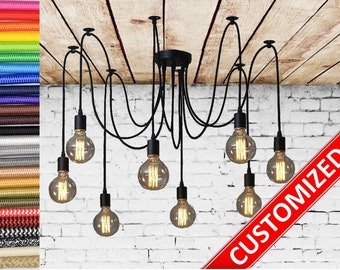 Spider chandelier 6-12 Pendant light Industrial Lighting Industrial Chandelier Hanging light pendant lighting industrial lamp Octopus lamp