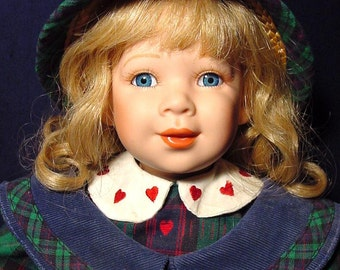 """Camilla Coca-Cola Doll Limited Edition Authorized Rare 18"""" Blonde Blue Eyes Child Porcelain Bisque Collectible"""