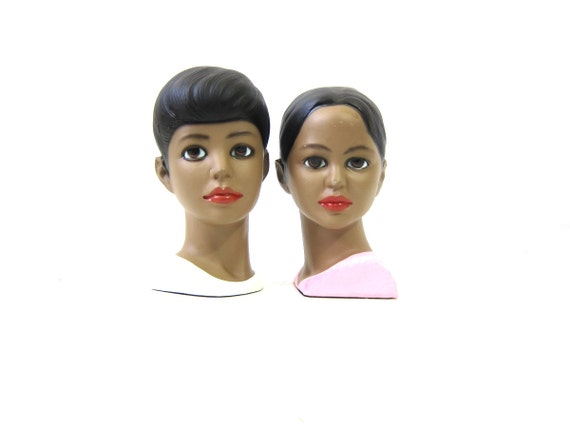 LEGO of Japan Vintage Head Busts Lego of Boy & Girl Heads Statues Retro Home Decor Figurines Womens Mens Faces