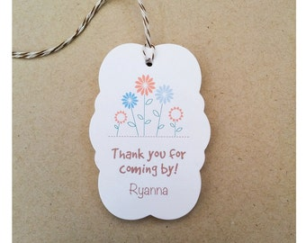 Personalized Gift Tags - Spring Flower Gift Tags - Custom Easter Gift Tags - All Occasion Gift Tags - Favor tags for bridal shower - TG-06