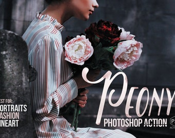Peony Photoshop Action - creative toning for portrait, fashion and fineart photography - Adobe Photoshop CS4, CS5, CS6, CC 2014 & CC 2015