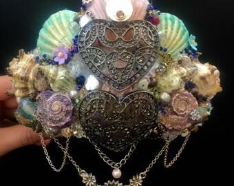 Love Daisies Mermaid Shell Crown