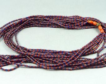 Bonda tribe glass beads necklace, NE India, ethnic tribal adornment, Indian jewellery, old tribal beads