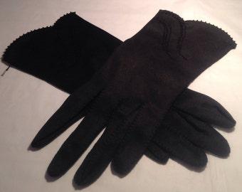 Vintage Ladies Black Dress Gloves