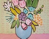 Original folk art floral ...