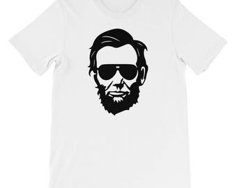 Hipster Abraham Lincoln T-Shirt: Cool American Presidents Sunglasses Funny USA