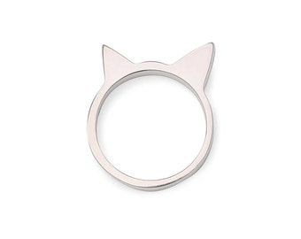 Tête de Chat 925- Cat ring 925