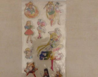 Sailor Moon Stickers 3 sheets, stickers