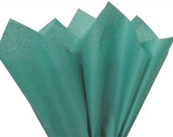 100 Sheets Teal Gift Wrap Pom Pom Tissue Paper 15x20